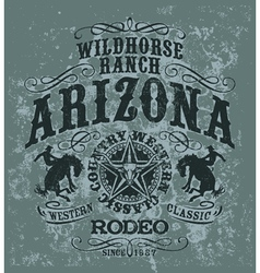 Arizona wild horse rodeo vector