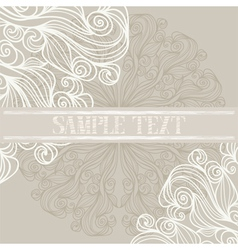 Background with lacy patterns vector image