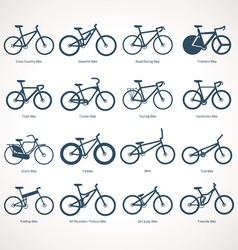 Bicycle types vector