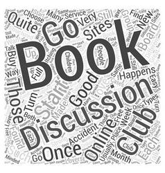 Book clubs word cloud concept vector