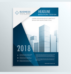 business brochure leaflet cover page design for vector image vector image