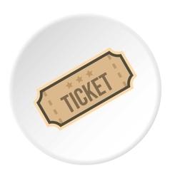 Cinema ticket icon flat style vector