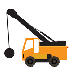 Construction vehicle icon vector