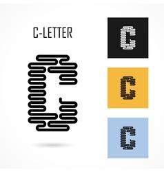 Creative c - letter icon abstract logo design vector