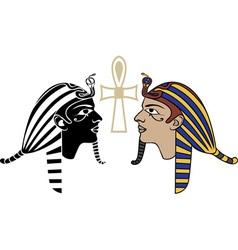 Egyptian pharaon head vector image