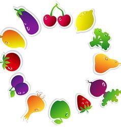 FruitsCircle vector image
