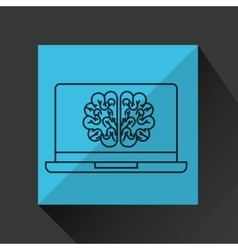 Learn online book brain intellect vector