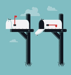 Mailbox icon set vector
