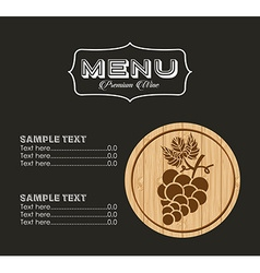 menu wine design vector image vector image