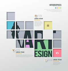 Modern infographics squares template for business vector image