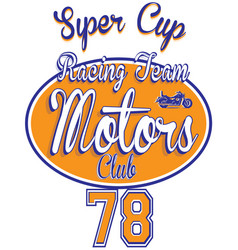 Motorcycle racing typography t-shirt graphics vector