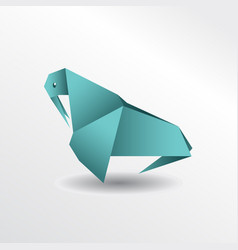 origami walrus vector image vector image