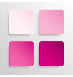 Paper banner pink mockup square vector