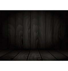 Realistic dark wooden board background vector
