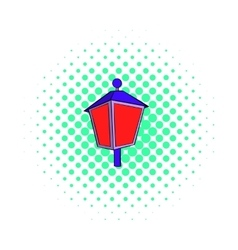 Red light icon comics style vector