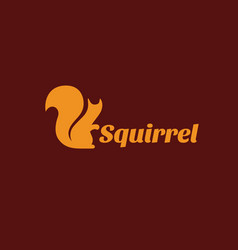squirrel logo vector image