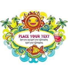Summer mood frame vector image