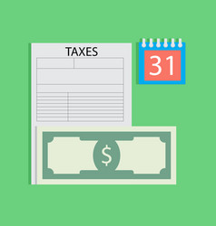 Tax day flat vector