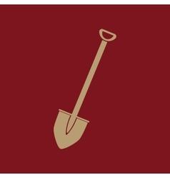 The shovel icon spade symbol flat vector