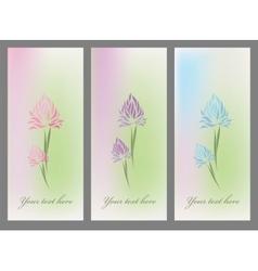 Vintage set retro flower blossom vector image vector image