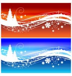 winter wave vector image vector image