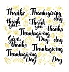Thanksgiving Day Lettering Design vector image
