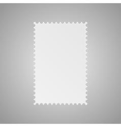 Paper banner  mockup postage stamp vector