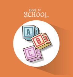Back to school alphabet cubes object vector