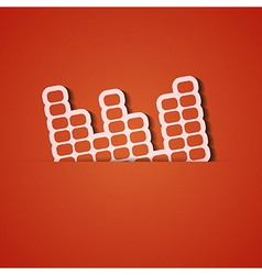 Background orange icon applique eps10 vector