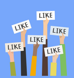 Social network likes approval customers feedback vector