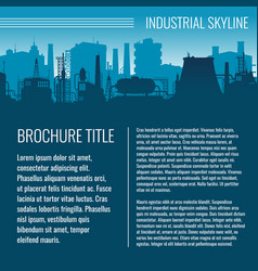 Industrial business template design with vector
