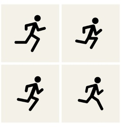Running men vector