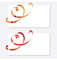 Curling ribbons in shape of heart vector