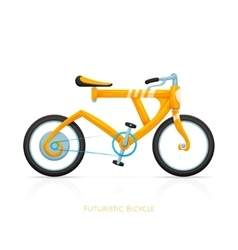 Futuristic bicycle vector