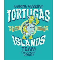 Tortugas islands marine reserve vector image