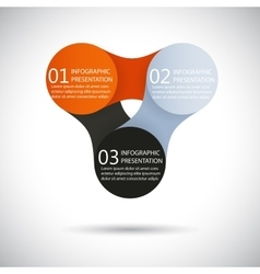Infographics metaball round diagram vector