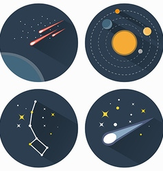 Stars constellations icons vector