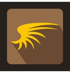 Yellow wing icon in flat style vector