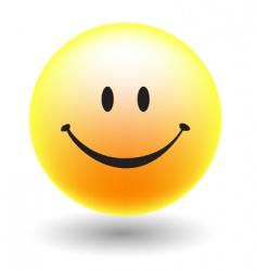 A happy smiley face button vector