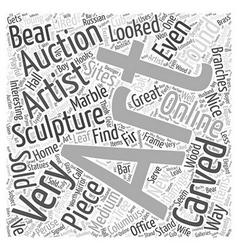 Art auctions for sculptures word cloud concept vector