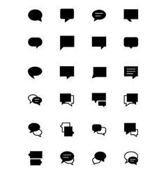 Chat massages icons 2 vector