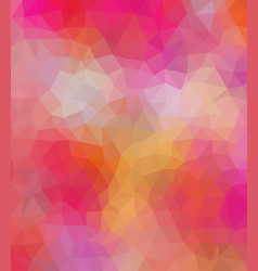 Colored polygonal consist of triangles geometric vector
