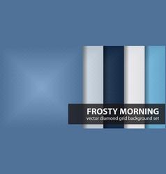 diamond pattern set frosty morning geometric vector image