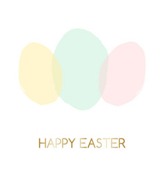Easter greeting card design vector