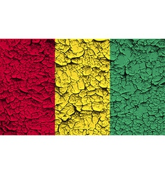 Flag of Guinea with old texture vector image