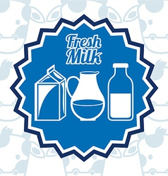 Fresh milk vector