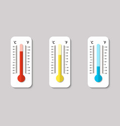 Icons of celsius and fahrenheit meteorology vector