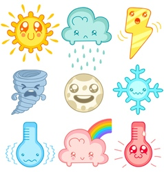 Kawaii weather vector