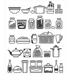 kitchen stuff7 2 vector image