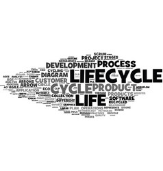 Lifecycle word cloud concept vector